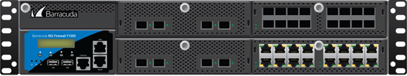 Barracuda CloudGen Firewall F-Series F1000 model CE2 (32 copper 1G and 8 SFP+ 10G ports)