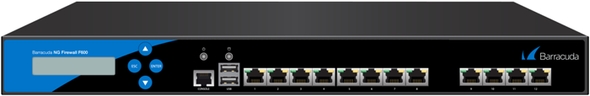 Barracuda CloudGen Firewall F-Series F600 model E20 (Enhanced SFP 10Gb version with Dual Power Supply)