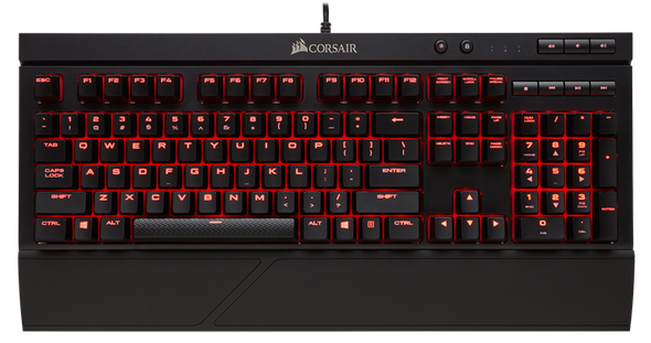 Corsair Gaming K68 Mechanical Keyboard, Backlit Red LED, Cherry MX Red