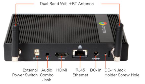 AOPEN Chromebox Mini Commercial & Enterprise Grade, Quad-Core Cortex-A17,16GB, need CDM license, 3yrs RTB Wty (Opt POS connectors and mounting rails) | 91.MED00.GU10 | Rosman Computers - 3