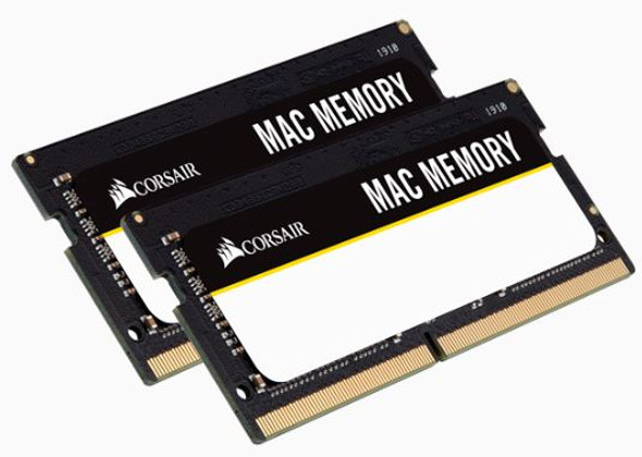 CORSAIR DDR4, 2666MHz 16GB 2x260 SODIMM 1.2V, Apple Qualified, Unbuffered, 18-18-18-43