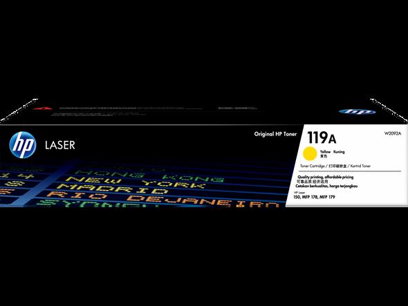 HP 119A Yellow Original Laser Toner Cartridge - HP Color LaserJet 150a/175nw/179fnw Printer   W2092A   Rosman Computers - 2