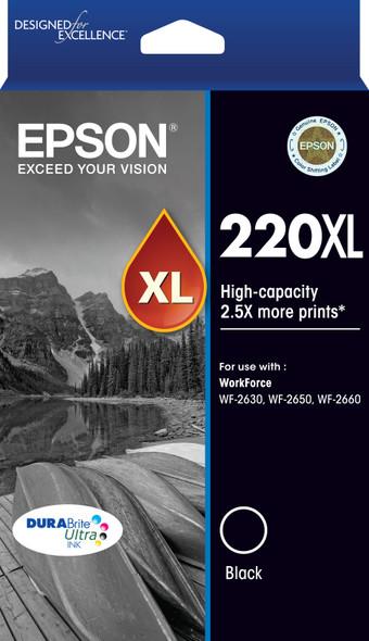 220XL High Capacity DURABrite Ultra Black ink(Epson WorkForce WF-2630, WF-2650, WF-2660)