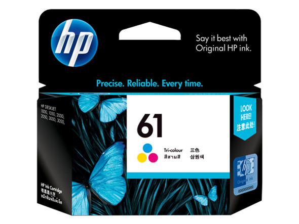 HP 61 Tri-Color Inkjet Print Cartridge   CH562WA   Rosman Computers - 2