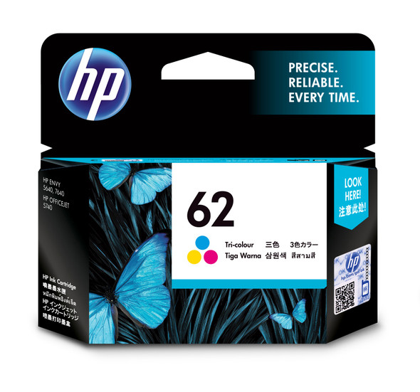 HP 62 TRI-COLOR INK CARTRIDGE | C2P06AA | Rosman Computers - 3