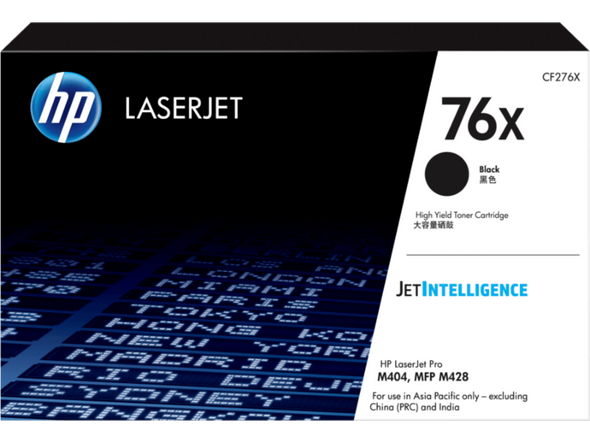 HP 76X Black LaserJet Toner Cartridge