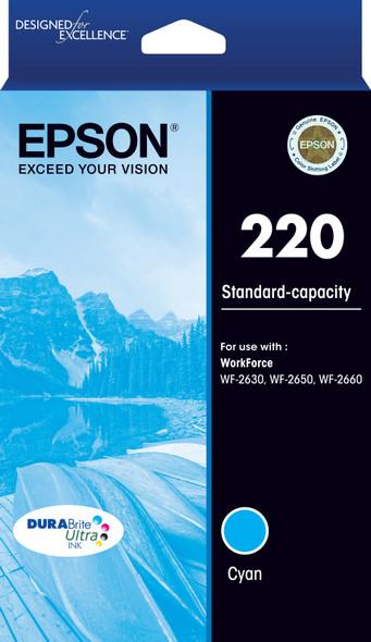 220 Std Capacity DURABrite Ultra Cyan ink(Epson WorkForce WF-2630, WF-2650, WF-2660)