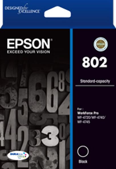 Epson 802 Std Black Ink DURABrite  - WF-4720, WF-4740; WF-4745 | C13T355192 | Rosman Computers - 2