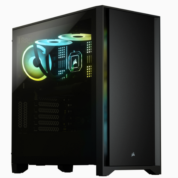 Corsair 4000D Tempered Glass Mid-Tower Case, Black