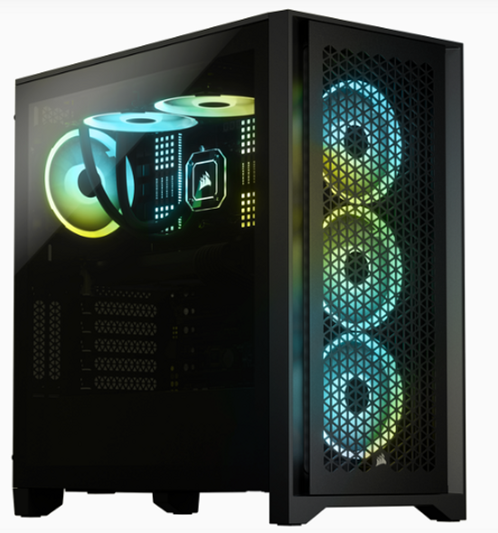 Corsair 4000D Airflow Tempered Glass Mid-Tower Case, Black