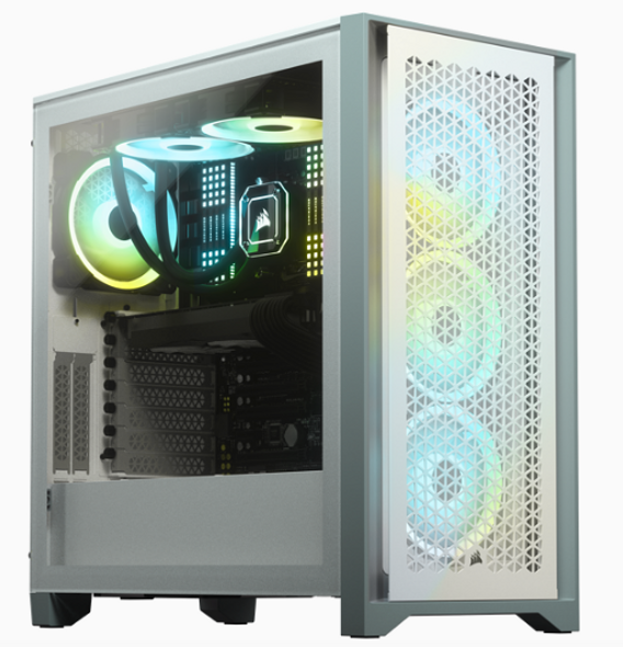 Corsair 4000D Airflow Tempered Glass Mid-Tower Case, White