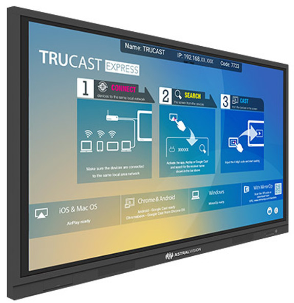 "AstralVision AVSA Pro 75"" Interactive Touchscreen | 9369998150205 | Rosman Computers - 2"