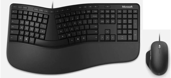 Microsoft Ergonomic Desktop Win32 USB Port Black
