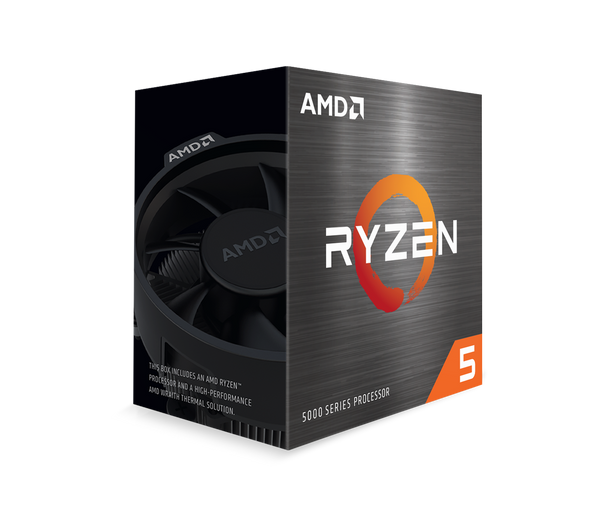 AMD Ryzen 5 5600X 6-Core/12 Threads, Max Freq 4.6GHz, 35MB Cache Socket AM4 105W, With Wraith Stealth cooler