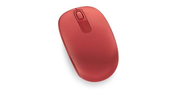 Microsoft Wireless Mbl Mouse 1850 Flame Red V2 | U7Z-00035 | Rosman Computers - 2