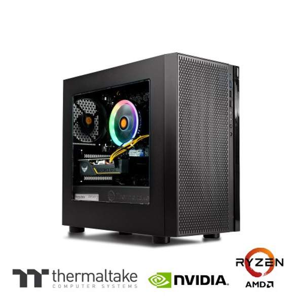 Thermaltake Computer System Genesis - AMD Ryzen 3 - 3100/ 1650 Super/ 16GB DDR4 3000Mhz/ A520 Chipset/ H18 | CA-4Y2-00D1WA-00 | Rosman Computers - 1
