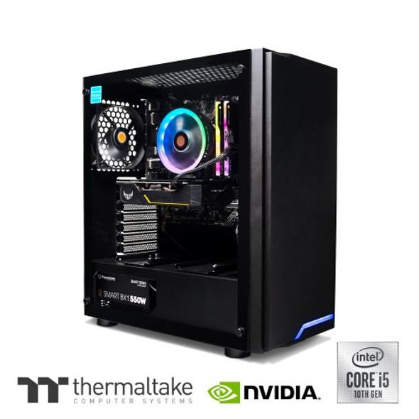 Thermaltake Computer System Genesis PRO - Intel i5 10400 / 1660 Super/ 16G RGB DDR4/ B460 Chipset/ H100 | CA-4Z1-00D1WA-00 | Rosman Computers - 3