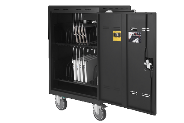 Aver 25Kg+ Freight Rate-32 bays, tablets, laptops & Chromebooks Charge Cart | E32C | Rosman Computers - 9