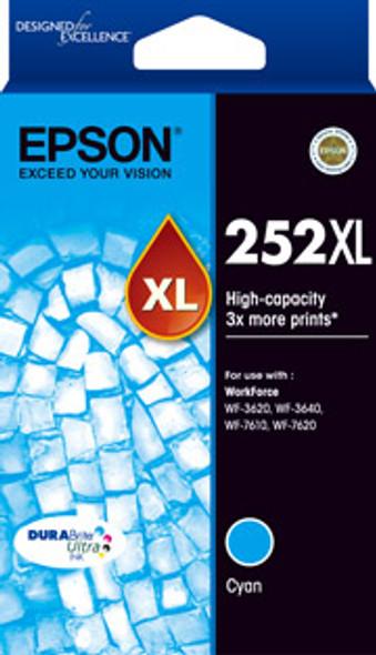 Epson 252XL High Capacity DURABrite Ultra Cyan ink - WF-3620, WF-3640, WF-7610, WF-7620, WF-7725   C13T253292   Rosman Computers - 2