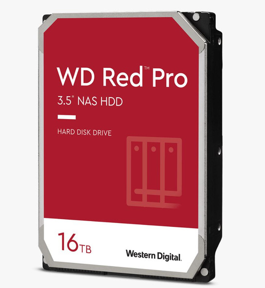 Western Digital WD Red Pro,16TB, 3.5 form factor, SATA 6 Gb/s, 7200 RPM, 256 cache, 5 yrs warranty