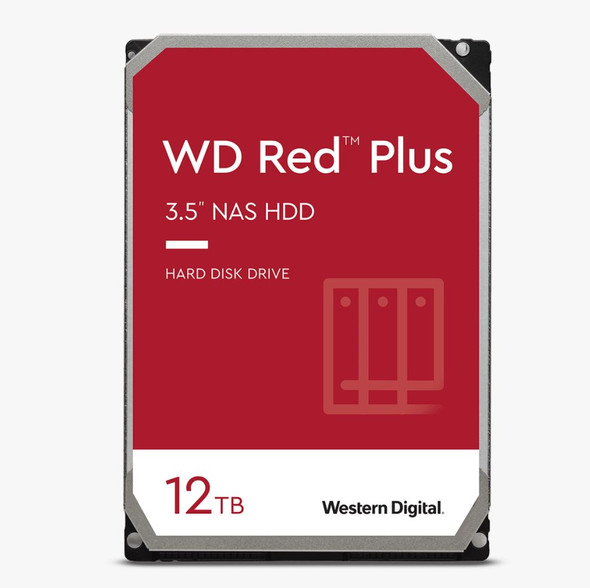 Western Digital WD Red NAS Hard Drive, 12TB, SATA 6 Gb/s, 3.5in, 256MB Cache, 3 years