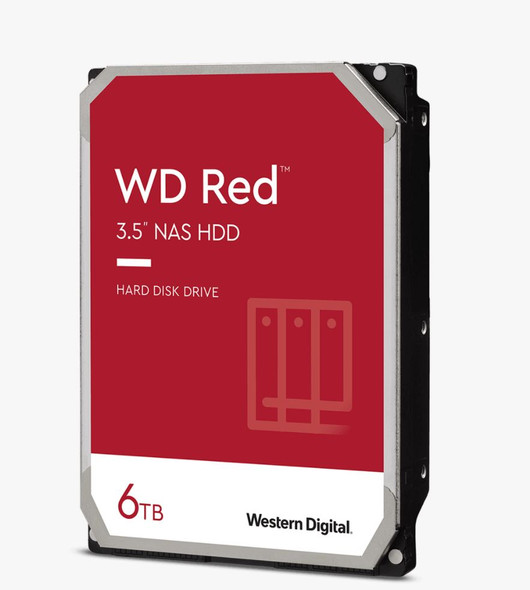 "Western Digital WD Red SATA 6 Gb/s , 6TB, 128MBs/3.5""/ 3YRS"