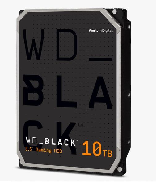 Western Digital WD Black, DESKTOP, 10TB,  3.5 form factor, SATA interface, 7200 RPM, 256 cache, 5 yrs warranty