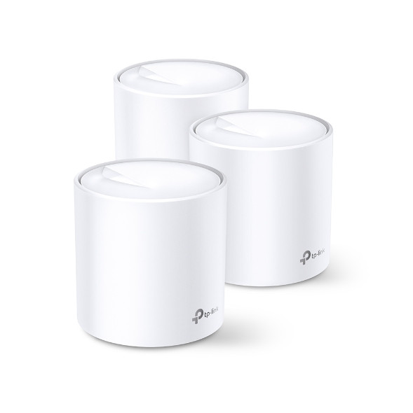 TP-Link Deco X20(3-pack) AX1800 Whole Home Mesh Wi-Fi System, Up To 530 sqm Coverage, WIFI6, 1201Mbps @ 5Ghz, 574Mbps @ 2.4 GHz OFDMA, MU-MIMO | Deco X20(3-pack) | Rosman Computers - 1