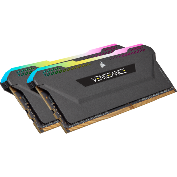 Corsair DDR4, 3200MHz 16GB 2x8GB Dimm, Unbuffered, 16-20-20-38, XMP 2.0, Vengeance RGB Pro SL black Heatspreader, RGB LED, 1.35V, for AMD Ryzen & Intel
