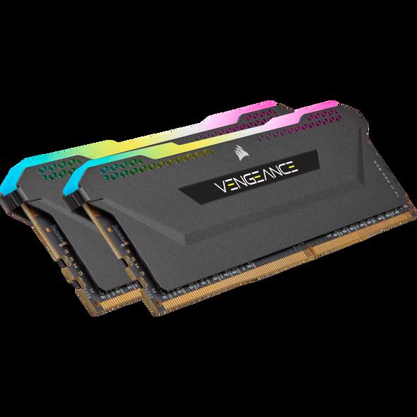 Corsair DDR4, 3600MHz 32GB 2x16GB DIMM, Unbuffered, 18-22-22-42, XMP 2.0, VENGEANCE RGB PRO SL Black Heatspreader, RGB LED, 1.35V, for AMD Ryzen & Intel | CMH32GX4M2D3600C18 | Rosman Computers - 2