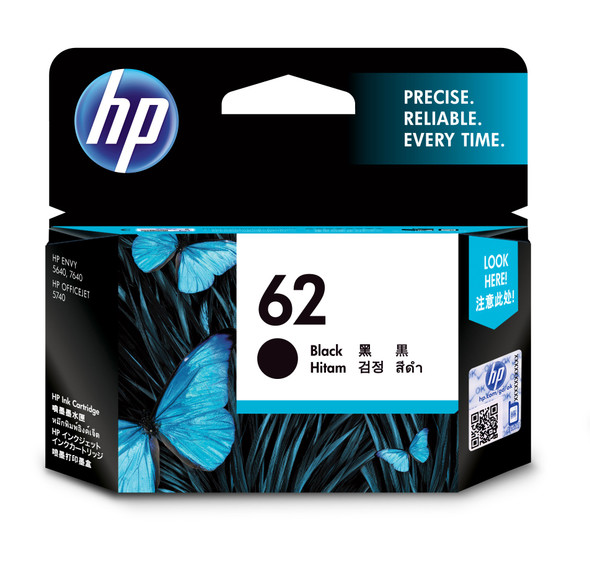 HP 62 BLACK INK CARTRIDGE | C2P04AA | Rosman Computers - 1