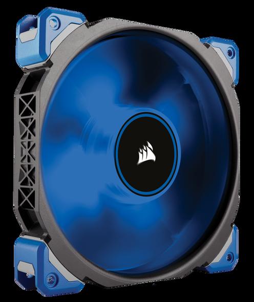 Corsair ML140 PRO LED, Blue, 140mm Premium Magnetic Levitation Fan | CO-9050048-WW | Rosman Computers - 1