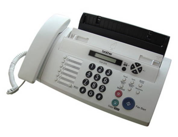 BROTHER FAX-878 THRML TRNSFR FAX,UPTO 20PG MEMORY,10PG ADF,DUET&CALLER ID | FAX-878 | Rosman Computers - 1