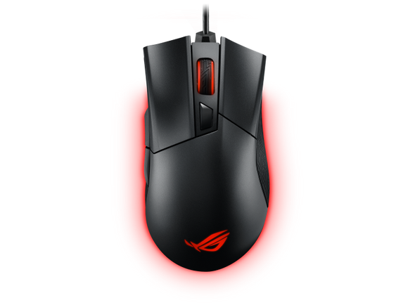 ASUS ROG Gladius II Core, wired optical gaming mouse, 6200 DPI, Aura Sync, Black, 1 Yr Warranty | 90MP01D0-B0UA00 | Rosman Computers - 3