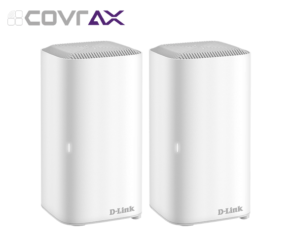 D-Link COVR-X1872 AX1800 Dual Band Seamless Mesh Wi-Fi 6 System - 2 Pack