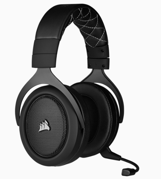 CORSAIR HS70 PRO WIRELESS Gaming Headset, Carbon