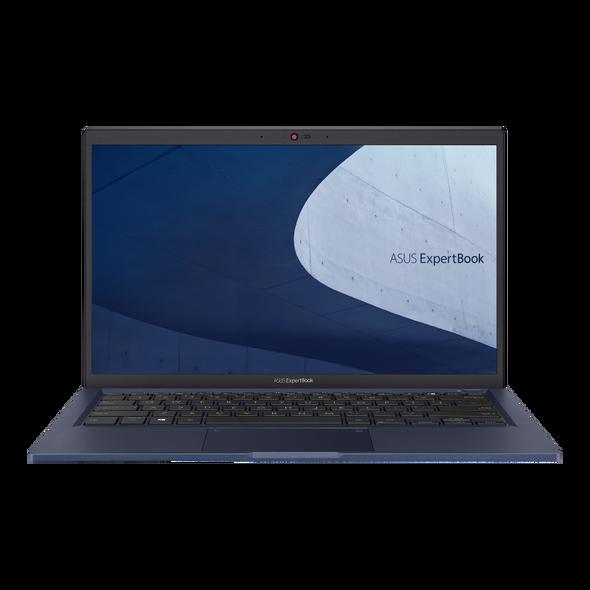 Asus ExpertBook, i5-1165G7, WIN10-P, 14.0' FHD, 8GB DDR4, 512GB SSD, 1xHDMI, 1xVGA, 1xRJ45, 2xUSB 3.2, 1xUSB 2.0, 1xThunderbolt 4, Black, 1 YR ONSITE WTY   90NX0421-M11470   Rosman Computers - 2