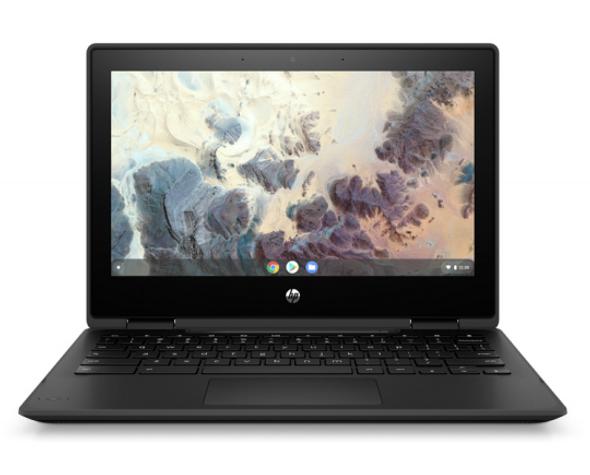 "HP Chromebook x360 11 G4, 11.6"" HD Touch, Celeron N4500, 4GB, 32GB eMMC, Chrome 64, No Pen, No Cam, Nautical Neon, 1Yr RTB Warranty | 408L4PA | Rosman Computers - 1"