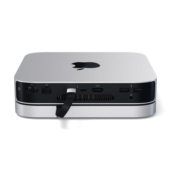 Satechi Aluminium USB-C Stand + Hub for Mac Mini  (Silver)   ST-ABHFS   Rosman Computers - 2