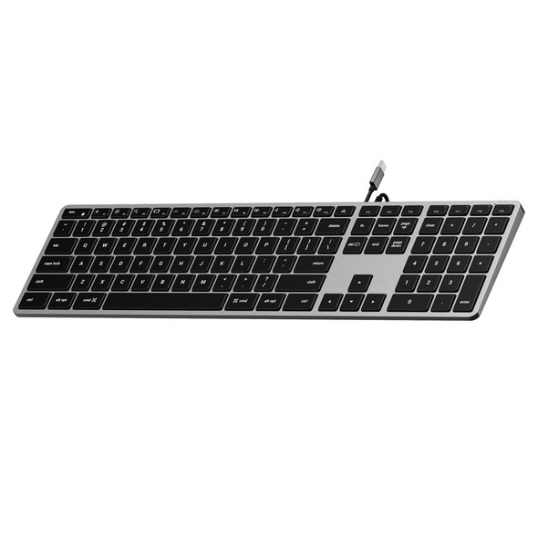 Satechi Slim W3 Wired Backlit Keyboard (Space Grey) | ST-UCSW3M | Rosman Computers - 2
