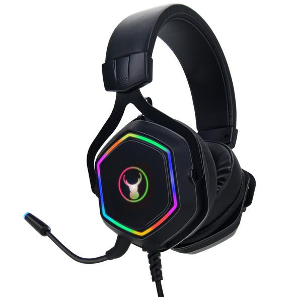Bonelk GH-717 Wired RGB Premium Gaming Headset - Black