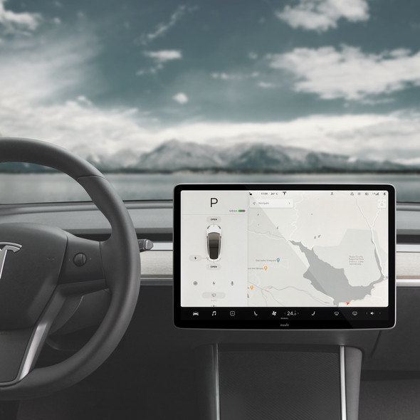 Moshi iVisor XT Clear Screen Protector for Tesla Model 3/Y's Central Touchscreen (Black) | 99MO020042 | Rosman Computers - 2
