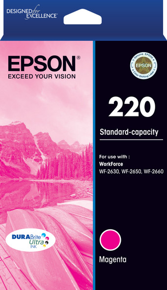 220 Std Capacity DURABrite Ultra Magenta ink(Epson WorkForce WF-2630, WF-2650, WF-2660) | C13T293392 | Rosman Computers - 2