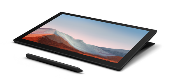 Microsoft Surface Pro 7+ i5 8GB 256GB Win 10 Pro Black + Type Cover + Privacy Glass Protector | 1NA-00022-STCP@MSOFT | Rosman Computers - 1
