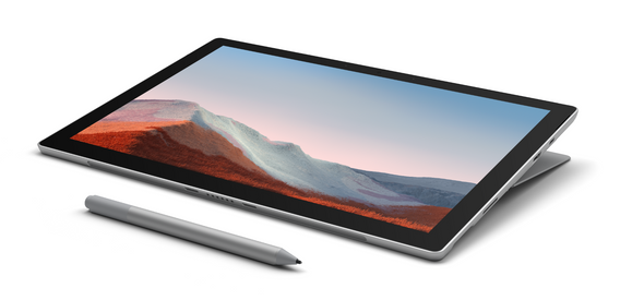 Microsoft Surface Pro 7+ i5 8GB 256GB Win 10 Pro Platinum + Type Cover + Privacy Glass Protector | 1NA-00007-STCP@MSOFT | Rosman Computers - 1