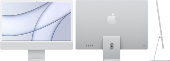 24-inch iMac with Retina 4.5K display: Apple M1 chip with 8-core CPU and 7-core GPU, 256GB - Silver | MGTF3X/A | Rosman Computers - 1