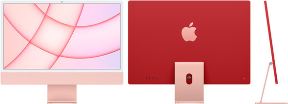 24-inch iMac with Retina 4.5K display: Apple M1 chip with 8-core CPU and 8-core GPU, 512GB - Pink (MGPN3X/A)