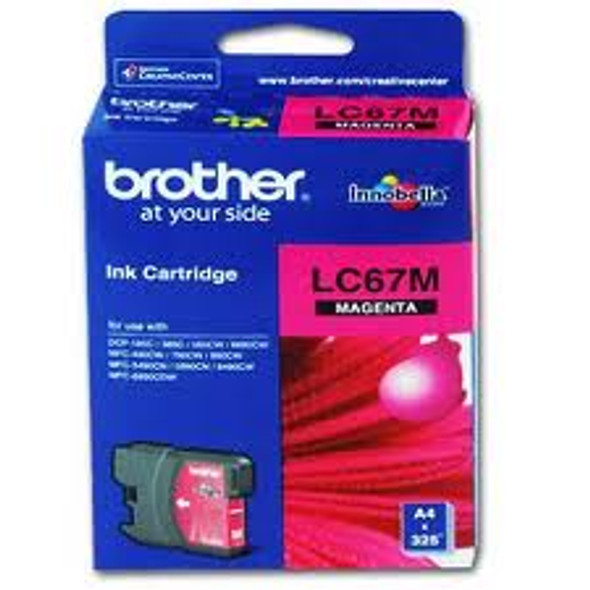 Brother MAGENTA INK CARTRIDGE FOR DCP-385C (LC-67M)