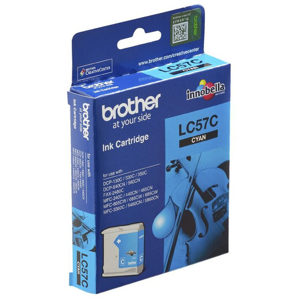 Brother CYAN INK LC57C FOR DCP-350C,MFC-465CN/685CW/885CW,FAX2480C (LC-57C) | 8ZC50200140 | Rosman Computers - 2