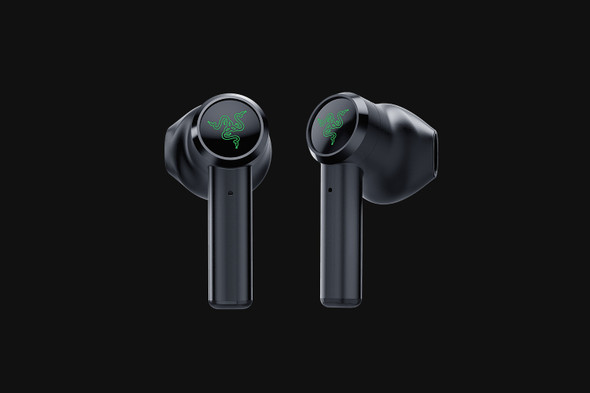 Razer Hammerhead True Wireless (New 2021)-Earbuds-Black-AP Packaging (RZ12-03820100) | RZ12-03820100-R3A1 | Rosman Computers - 1